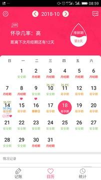 排卵期安全期日历截图