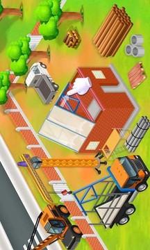 模拟挖掘机建房子截图