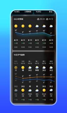 微鲤天气截图
