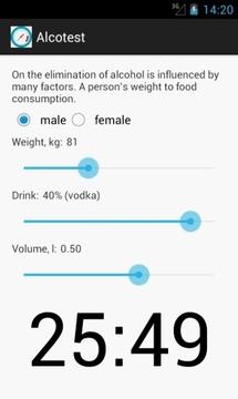 酒精测试  Alcotest截图